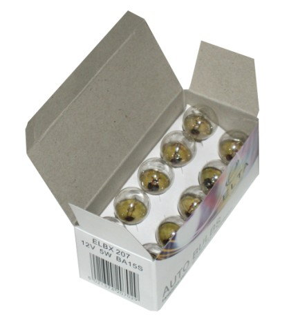 10pc Auto Bulbs 12v 5w Ba15s
