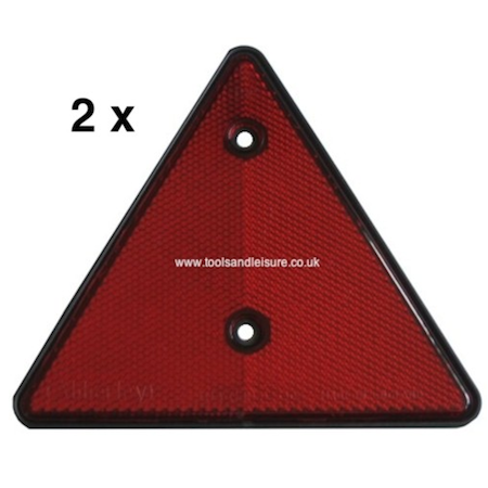 2 x Red Trailer Triangles / Trailer Reflectors