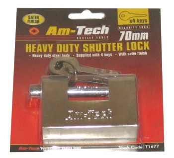 Am-Tech 70mm Heavy Duty Shutter Lock