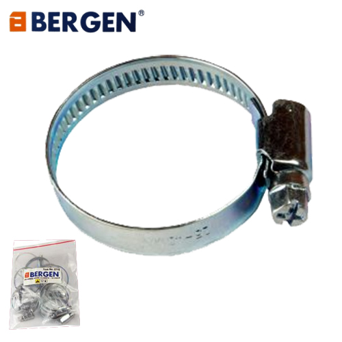Bergen Tools 10pc Hose Clamps Size 25mm to 40mm