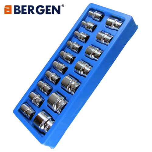 Bergen Tools 17pc 1/2'' DR Shallow Sockets 10-32mm
