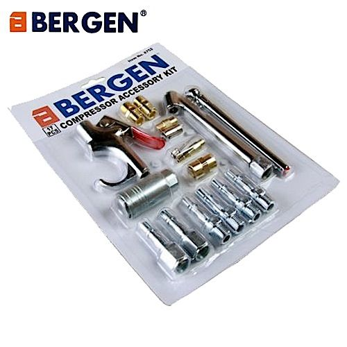 Bergen Tools 17pc Air Compressor Accessory Kit - Air Blow Gun Kit
