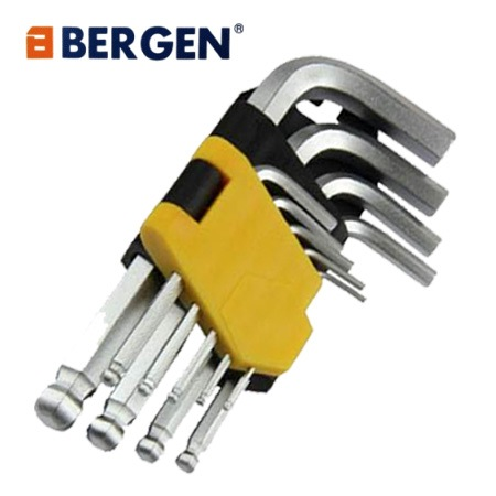 Bergen Tools 9pc Short Ball Point Allen Hex Keys Set