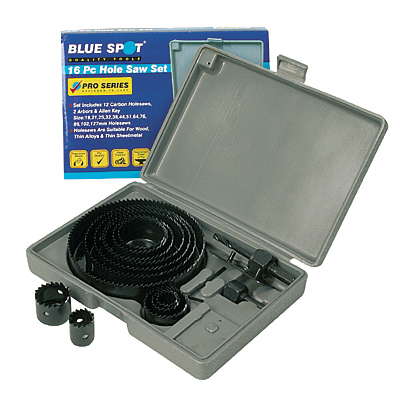 Blue Spot 16pc Hole Saw Set