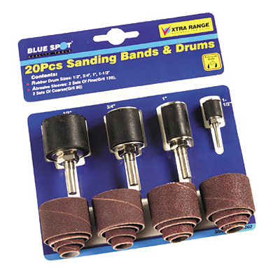 Blue Spot 20pc Sanding Bands and Drums Kit