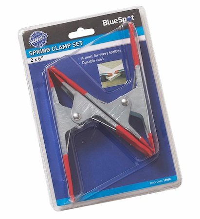 "Blue Spot 2pce 6"" Spring Clamp Set"