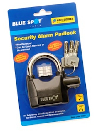 Blue Spot Security Alarm Padlock