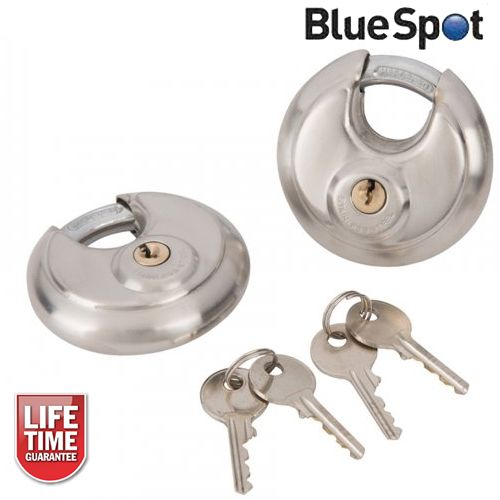 Blue Spot Tools 2pc 70mm Discus Padlock