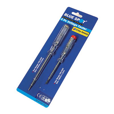 Blue Spot Tools 2pc Mains Testing Screwdrivers