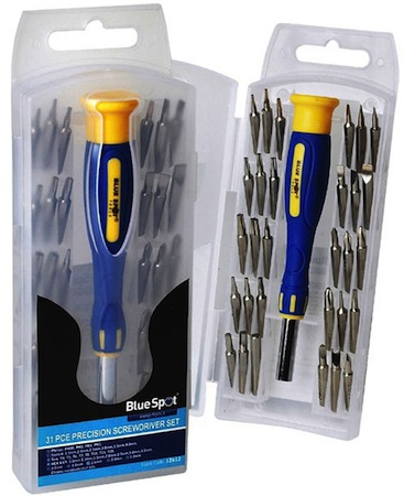 Blue Spot Tools 31pc Precision Screwdriver Bit Set