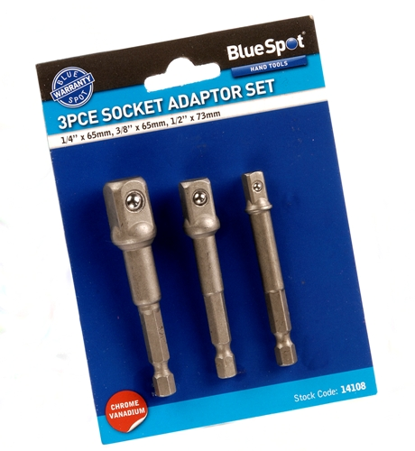 Blue Spot Tools 3pc 1/4'' Hex Shank Nut Drivers