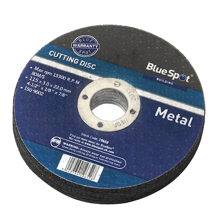 "Blue Spot Tools 4 1/2"" (115mm) Metal Cutting Disc"