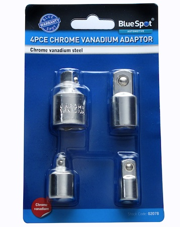 Blue Spot Tools 4pce Drive Adaptor Set