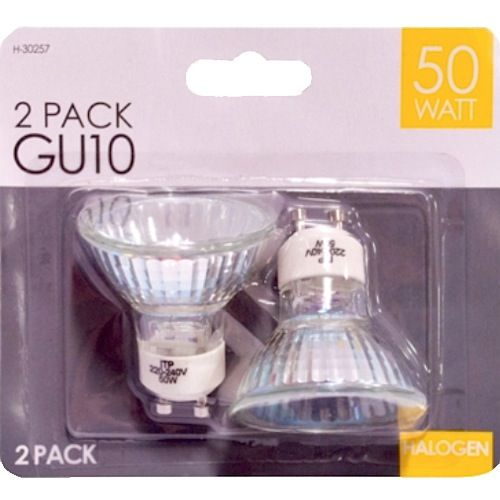 GU10 Halogen Light Bulbs 50w - 2 Pack