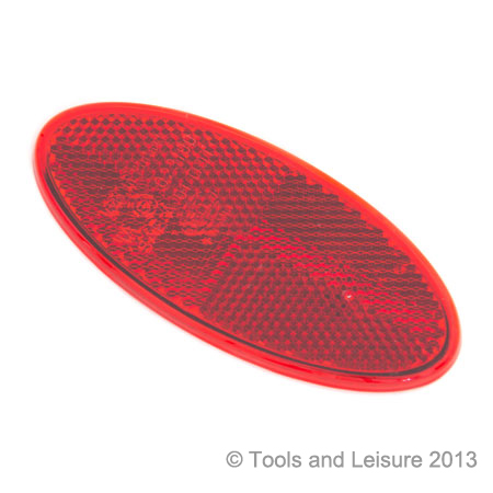 Oval Self Adhesive RED Reflector