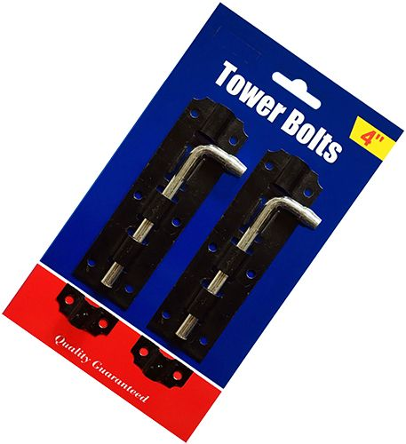 Rapide 2pc 4'' Tower Gate Bolts
