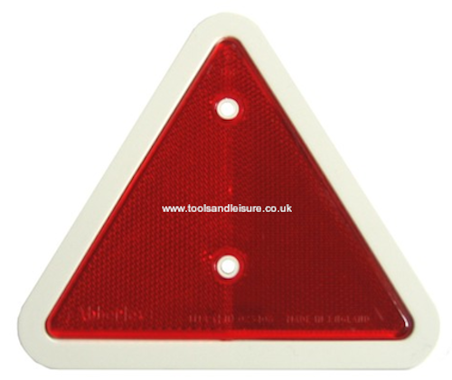 Red Reflective Trailer Triangle with White Surround - Triangular Reflector