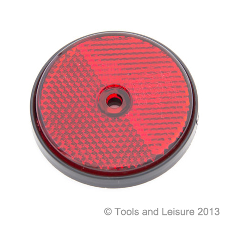 RED Screw Fit Round Reflector - Red Reflector | Tools & Leisure