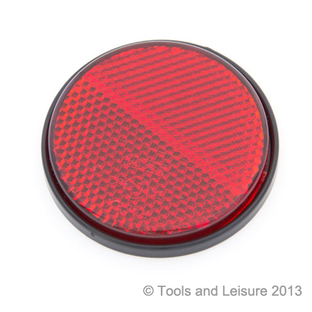 Round RED Self Adhesive Reflector | Tools & Leisure