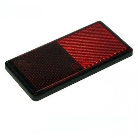 Seconds - 4 x Self Adhesive RED Rear Reflector