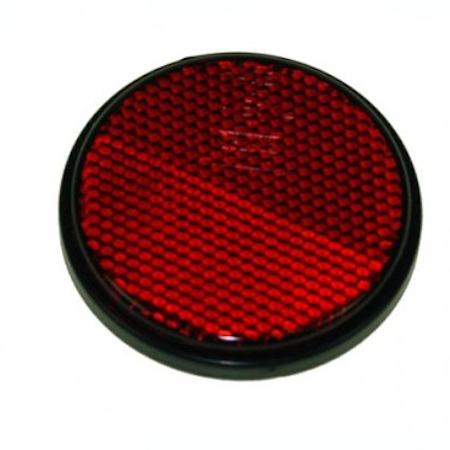 Seconds - 5 x Round RED Self Adhesive Reflector