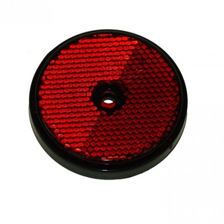 Seconds - 9 x RED Screw Fit Round Reflector