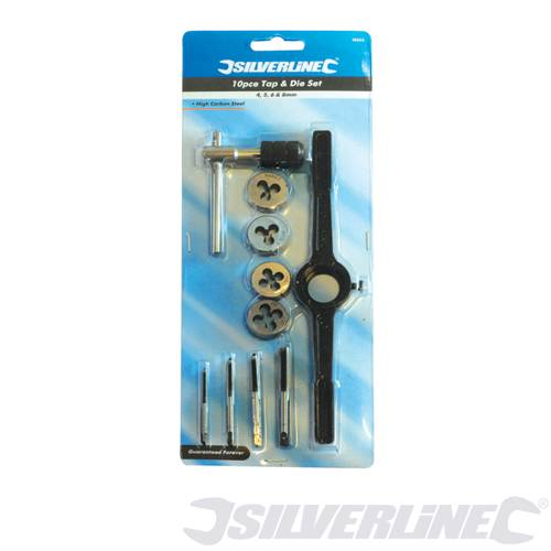 Silverline 10pc Tap and Die Set