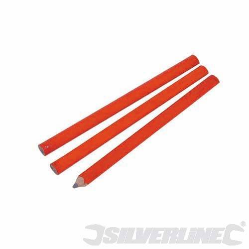 Silverline 3pk Carpenters Pencils