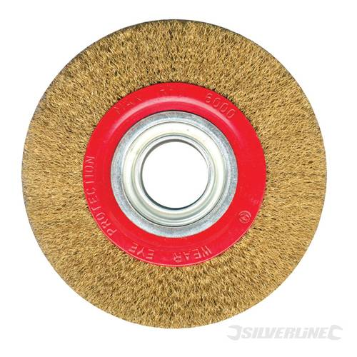 Silverline Brassed Wire Wheel For Bench Grinder