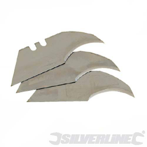 Silverline Tools Concave Utility Knife Blades 10pk
