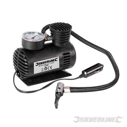 Silverline Tools Mini Air Tyre Compressor