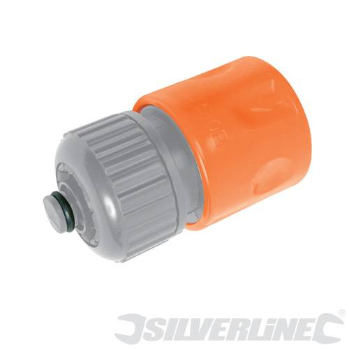Silverline Waterstop Hose Connector 1/2'' | 196539 | Hose Fittings