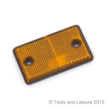 Small AMBER Side Reflector (screw on) - Orange Reflector | Tools & Leisure