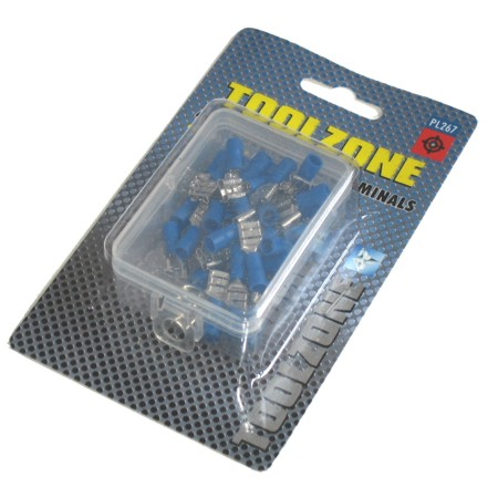 Toolzone 40pc Blue Female Crimping Terminals