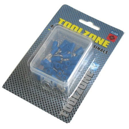 Toolzone 40pc Blue Male Crimping Terminals