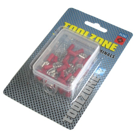 Toolzone 40pc Red Female Crimping Terminals