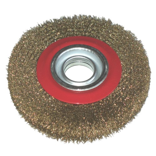 Toolzone 6'' Brassed Steel Wire Wheel For Bench Grinder