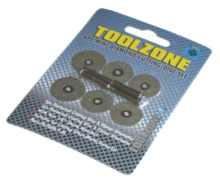 Toolzone 6pc Mini Diamond Cutting Disc Set