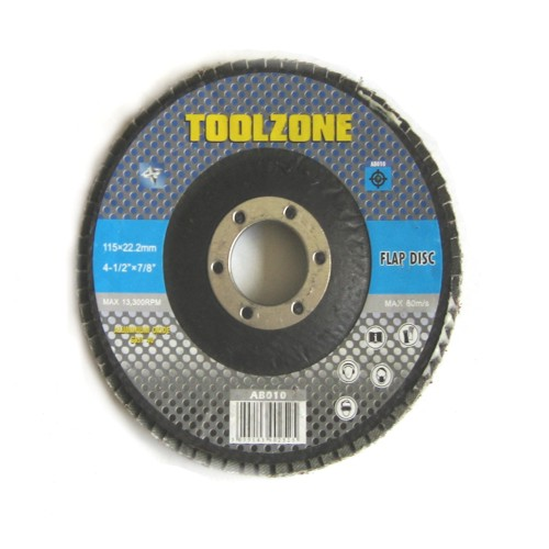 "Toolzone Tools 4 1/2"" Flap Disc - 40 Grit"