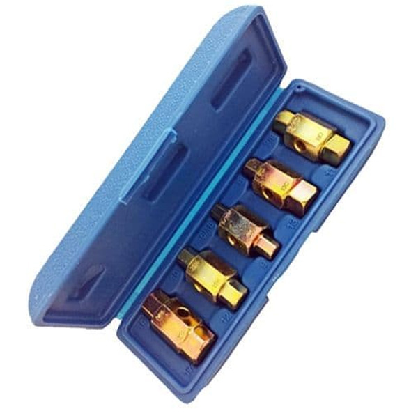 Toolzone Tools 5pc Sump Drain Plug Key Set