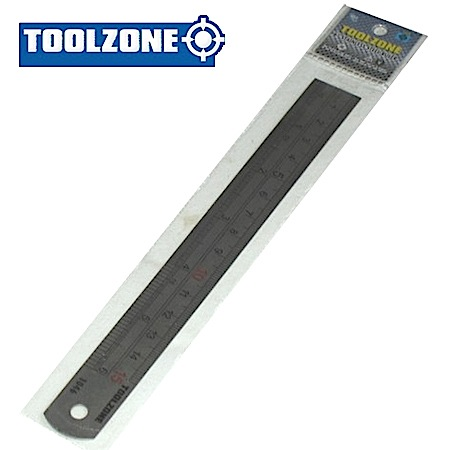 "Toolzone Tools 6"" Stainless Steel Ruler"