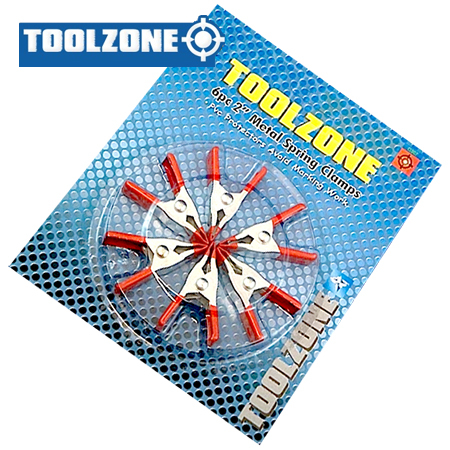 Toolzone Tools 6pc Mini Spring Clamp Set (50mm)