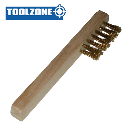 Toolzone Tools Brass Spark Plug Brush