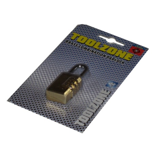 Toolzone Tools Small Brass Combination Padlock