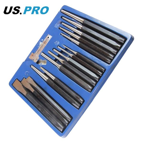 US Pro by Bergen Tools 16pc Punch and Chisel Set, Metal Punch | Tools & Leisure